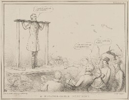 A Disagreeable Position!, by John ('HB') Doyle, printed by  Alfred Ducôte, published by  Thomas McLean - NPG D41453