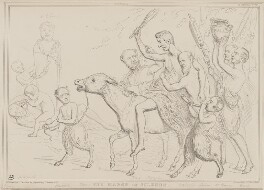 The March of Silenus, by John ('HB') Doyle, printed by  Alfred Ducôte, published by  Thomas McLean - NPG D41455