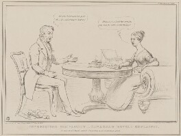 Interesting Simplicity - Canadian Revolt Explained (William Lamb, 2nd Viscount Melbourne; Queen Victoria), by John ('HB') Doyle, printed by  Alfred Ducôte, published by  Thomas McLean - NPG D41458