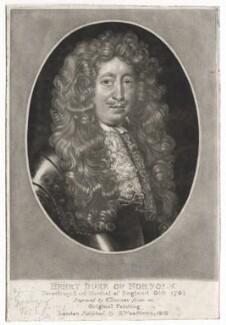 Henry Howard, 6th Duke of Norfolk, by Charles Turner, published by  Samuel Woodburn, after  Unknown artist - NPG D42572