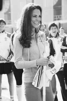 Catherine, Duchess of Cambridge with members of GB Women's Hockey Team, by Jillian Edelstein - NPG P1705