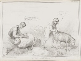 Sheep Shearing, by John ('HB') Doyle, printed by  Alfred Ducôte, published by  Thomas McLean - NPG D41465
