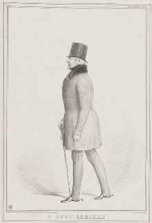 A Good Subject (Prince Adolphus Frederick, Duke of Cambridge), by John ('HB') Doyle, printed by  Alfred Ducôte, published by  Thomas McLean - NPG D41468