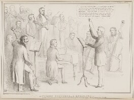 Ancient Concerts - A Rehearsal, by John ('HB') Doyle, printed by  Alfred Ducôte, published by  Thomas McLean, published 14 May 1838 - NPG D41472 - © National Portrait Gallery, London