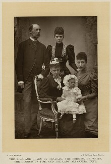 Alexandra of Denmark with members of her family, by W. & D. Downey, published by  Cassell & Company, Ltd, 1893, published 1894 - NPG x136644 - © National Portrait Gallery, London