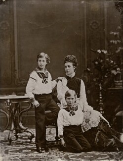 Prince Albert Victor, Duke of Clarence and Avondale; King George V; Queen Alexandra, by Georg Emil Hansen - NPG x136651