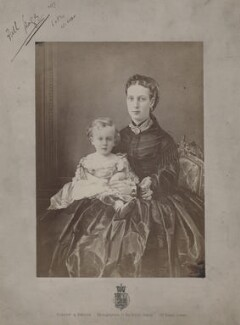 Prince Albert Victor, Duke of Clarence and Avondale; Queen Alexandra, by Window & Bridge - NPG x136652