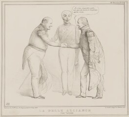 La Belle Alliance (Rowland Hill, 1st Viscount Hill; Arthur Wellesley, 1st Duke of Wellington; Nicolas Jean-de-Dieu Soult), by John ('HB') Doyle, printed by  Alfred Ducôte, published by  Thomas McLean - NPG D41483