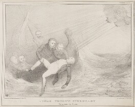 Jonah Thrown Overboard, by John ('HB') Doyle, printed by  Alfred Ducôte, published by  Thomas McLean - NPG D41484