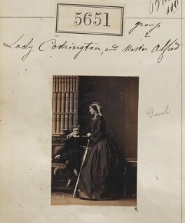 Sir Alfred Edward Codrington; Mary (née Ames), Lady Codrington, by Camille Silvy - NPG Ax55606