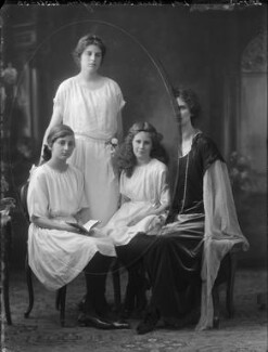 Lady Eleanor Keane (née Hicks-Beach); Adelaide Pegge (née Keane); Sheila Knight (née Keane); Madeline Emerson (née Keane), by Bassano Ltd - NPG x158736