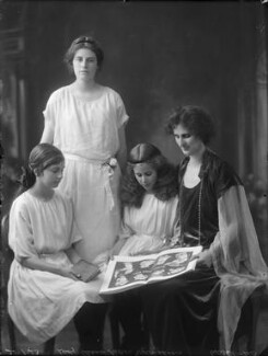 Lady Eleanor Keane (née Hicks-Beach); Adelaide Pegge (née Keane); Sheila Knight (née Keane); Madeline Emerson (née Keane), by Bassano Ltd - NPG x158737