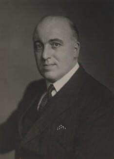David Patrick Maxwell Fyfe, Earl of Kilmuir, by Walter Stoneman - NPG x168742