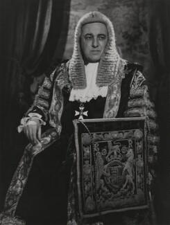 David Patrick Maxwell Fyfe, Earl of Kilmuir, by Walter Bird - NPG x168743