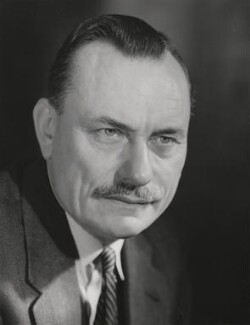 Enoch Powell, by Walter Bird - NPG x159725