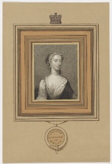 Augusta of Saxe-Gotha, Princess of Wales, by Charles Picart, drawn by  Gardner, published by  T. Cadell & W. Davies, after  Christian Friedrich Zincke - NPG D42593