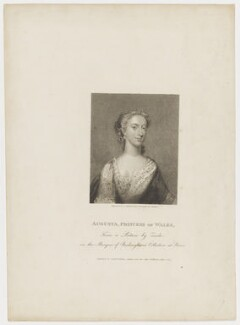 Augusta of Saxe-Gotha, Princess of Wales, by Charles Picart, drawn by  Gardner, published by  T. Cadell & W. Davies, after  Christian Friedrich Zincke - NPG D42595