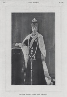 Queen Alexandra, by Swaine, after  William Edward Downey, for  W. & D. Downey - NPG x136699