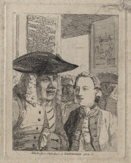 'John Balfour's Coffee house at Edinburgh 1752' (Unknown sitters), probably by Paul Sandby - NPG D42596