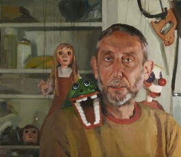 Michael Rosen, by Lee Fether, 2011 - NPG  - © Lee Fether/ National Portrait Gallery