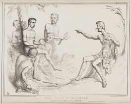 The Fate of Marsyas, by John ('HB') Doyle, printed by  Alfred Ducôte, published by  Thomas McLean - NPG D41491