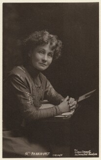 Emmeline Pankhurst, by Lena Connell (later Beatrice Cundy), circa 1907 - NPG x136722 - © reserved; collection National Portrait Gallery, London