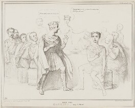 Scene from Macbeth - Banquo's Ghost, by John ('HB') Doyle, printed by  Alfred Ducôte, published by  Thomas McLean - NPG D41496