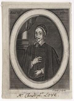 Christopher Love, by Thomas Cross, probably after  Cornelis Johnson Jr (Jonson van Ceulen) - NPG D42604