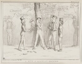 A Row in the Play-Ground, by John ('HB') Doyle, printed by  Alfred Ducôte, published by  Thomas McLean - NPG D41497