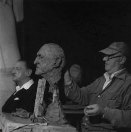 Somerset Maugham; Jacob Epstein, by Ida Kar - NPG x136753