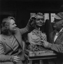 Anna Neagle; Jacob Epstein, by Ida Kar, 1953 - NPG x136756 - © National Portrait Gallery, London