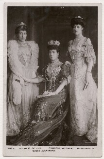 Alexandra of Denmark with two of her daughters, by William Slade Stuart, published by  Rotary Photographic Co Ltd - NPG x136768