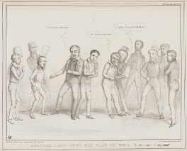 Another Peep Into the Play Ground, by John ('HB') Doyle, printed by  Alfred Ducôte, published by  Thomas McLean, published 31 December 1838 - NPG D41500 - © National Portrait Gallery, London