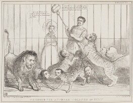 Feeding the Animals - Change of Diet!, by John ('HB') Doyle, printed by  Alfred Ducôte, published by  Thomas McLean, published 12 February 1839 - NPG D41507 - © National Portrait Gallery, London