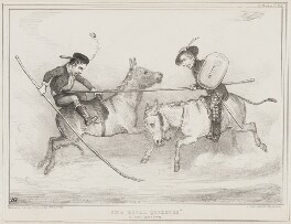 The Rival Quixotes (John George Lambton, 1st Earl of Durham; Henry Brougham, 1st Baron Brougham and Vaux), by John ('HB') Doyle, printed by  Alfred Ducôte, published by  Thomas McLean - NPG D41508