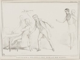 Playing Off a Practical Joke upon an Old Friend, by John ('HB') Doyle, printed by  Alfred Ducôte, published by  Thomas McLean - NPG D41511