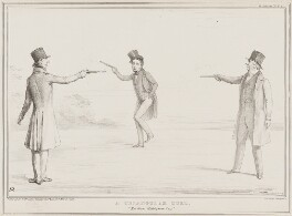 A Triangular Duel, by John ('HB') Doyle, printed by  Alfred Ducôte, published by  Thomas McLean - NPG D41512