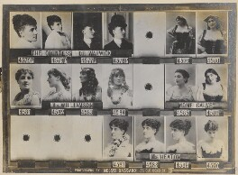 Frances Evelyn ('Daisy') Greville (née Maynard), Countess of Warwick; Nora Williamson; Emma Calvé; Miss Heaton, by and after Alexander Bassano - NPG Ax136802