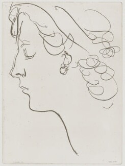 Unknown woman, by B. dS, possibly after  Augustus John - NPG D42608