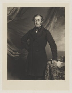 John Abel Smith, by William Overend Geller, published by  Leggatt, Hayward & Leggatt, after  Frederick Richard Say - NPG D42610