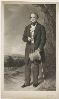 Richard William Penn Curzon, 1st Earl Howe, by George Zobel, published by  Henry Graves & Co, after  Sir Francis Grant - NPG D42611