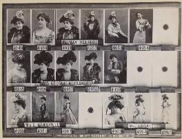 May Belfort (May Egan); Florence Jane (née Théleur), Lady Alexander; Miss C. Granville; Hilda Coral, by and after Alexander Bassano, circa 1902 - NPG Ax136817 - © National Portrait Gallery, London