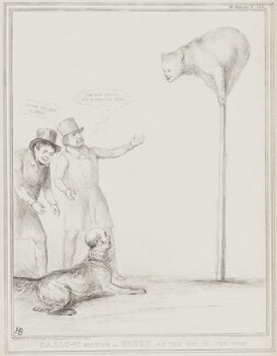Carlo-W Setting - Bruen at the Top of the Pole! (Daniel O'Connell; Joseph Hume; Thomas Gisborne the Younger; Henry Bruen), by John ('HB') Doyle, printed by  Alfred Ducôte, published by  Thomas McLean - NPG D41518