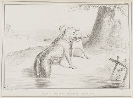 Who's to have the Stick?, by John ('HB') Doyle, printed by  Alfred Ducôte, published by  Thomas McLean - NPG D41519
