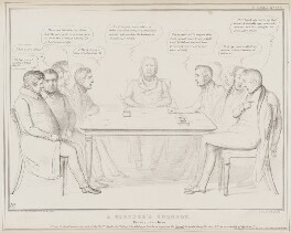 A Coroner's Inquest, by John ('HB') Doyle, printed by  Alfred Ducôte, published by  Thomas McLean, published 1 May 1839 - NPG D41523 - © National Portrait Gallery, London