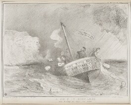 A Ship in Distress, by John ('HB') Doyle, printed by  Alfred Ducôte, published by  Thomas McLean - NPG D41535