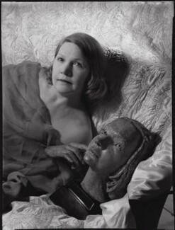 (Amy) Gwen Mond (née Wilson), Lady Melchett with her bust by Sir Jacob Epstein, by Ida Kar - NPG x136764