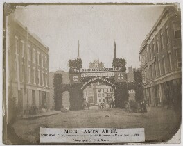 'Merchants' Arch, Port Hope, C.W., erected in honour of H.R.H. Prince of Wales', by Ebenezer Elijah Henry - NPG x136865