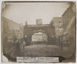 'Mechanics' Arch, Port Hope, C.W., erected in honour of H.R.H. Prince of Wales', by Ebenezer Elijah Henry - NPG x136867