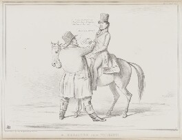 A Pressure from Without! (John Bull;Thomas Spring Rice, 1st Baron Monteagle of Brandon), by John ('HB') Doyle, printed by  Alfred Ducôte, published by  Thomas McLean - NPG D41537